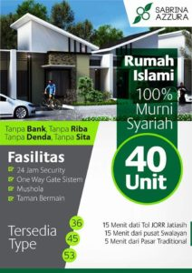 Cluster Sabrina Azzura Jatiasih Perumahan di Kota Bekasi