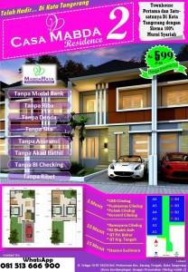 Rumah di Jual di Ciledug Casa Mabda Residence 2 Tangerang