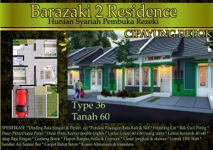 Perumahan Syariah di Cipayung Depok Barazaki Residence 2