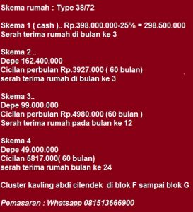 Cluster Abdi Cilendek Rumah Murah di Kota Bogor