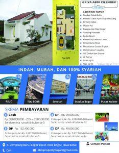 Rumah di Tengah Kota Bogor Rp 226juta – Griya Abdi Cilendek