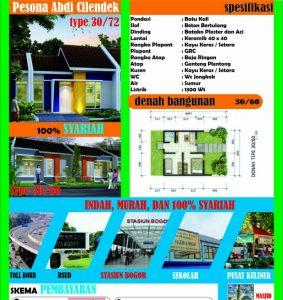 Perumahan SYariah di Kota Bogor Pesona Abdi Cilendek (Sold Out)