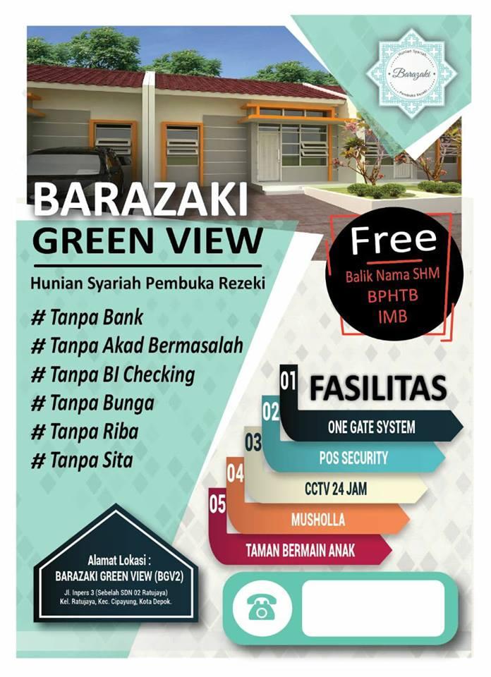 Barazaki View Rumah dijual di Depok dekat Stasiun