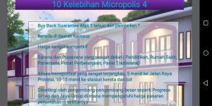 Cluster Micropolis 4 Serpong – Perumahan di Tangerang Selatan