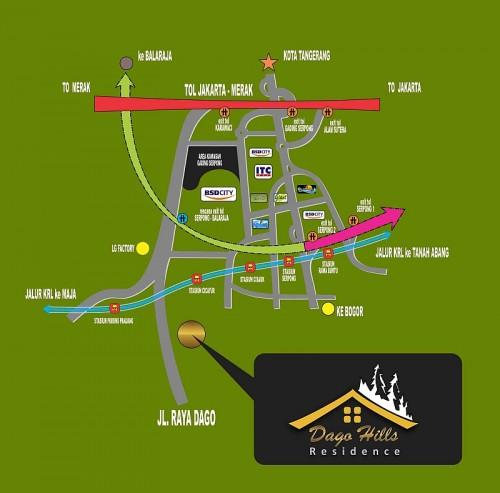 Lokasi Dago Hills Residence