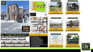 Perumahan di Pondok Cabe Al ihsan 3 tersedia juga Kavling Siap Bangun
