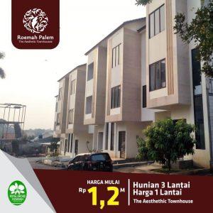 Rumah 3 Lantai Roemah Palm Jakarta Timur