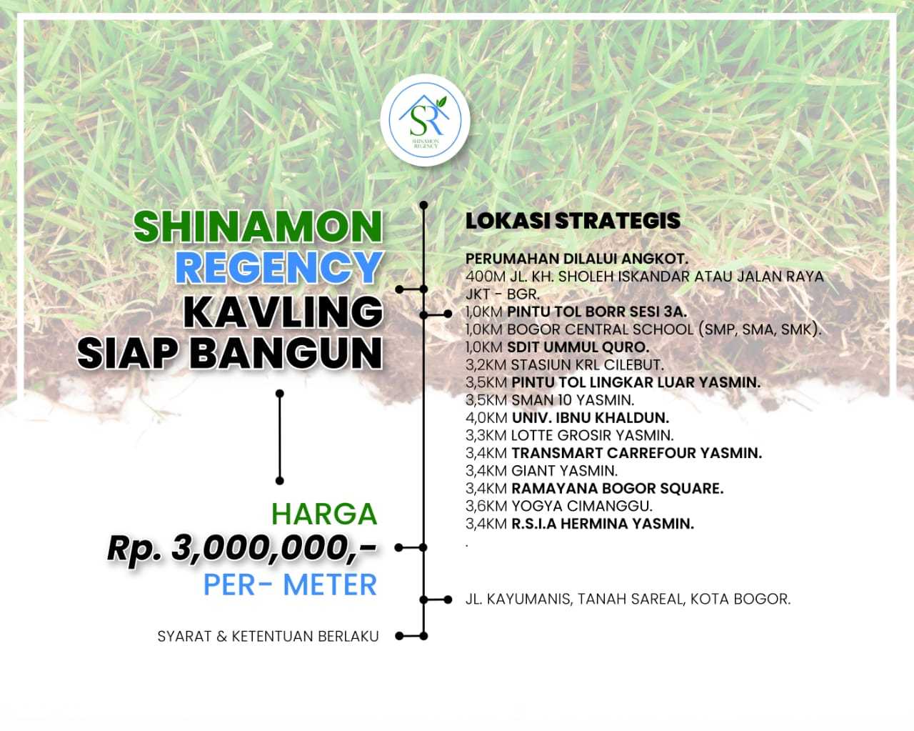 Tanah dijual Bogor