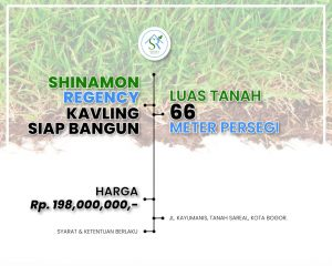 Jual Tanah Bogor dalam Cluster Shinamoon Regency