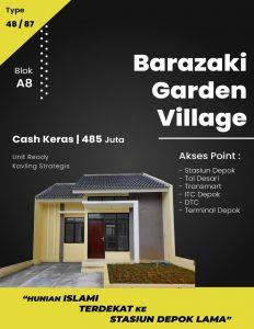 Di Jual Rumah Depok Barazaki Garden Village Blok I3