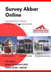 Survei Akbar Online Via Zoom Perumahan Islami Indonesia