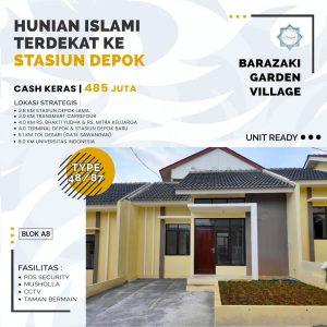 Rumah Minimalis di Cipayung Depok di Cluster Barazaki