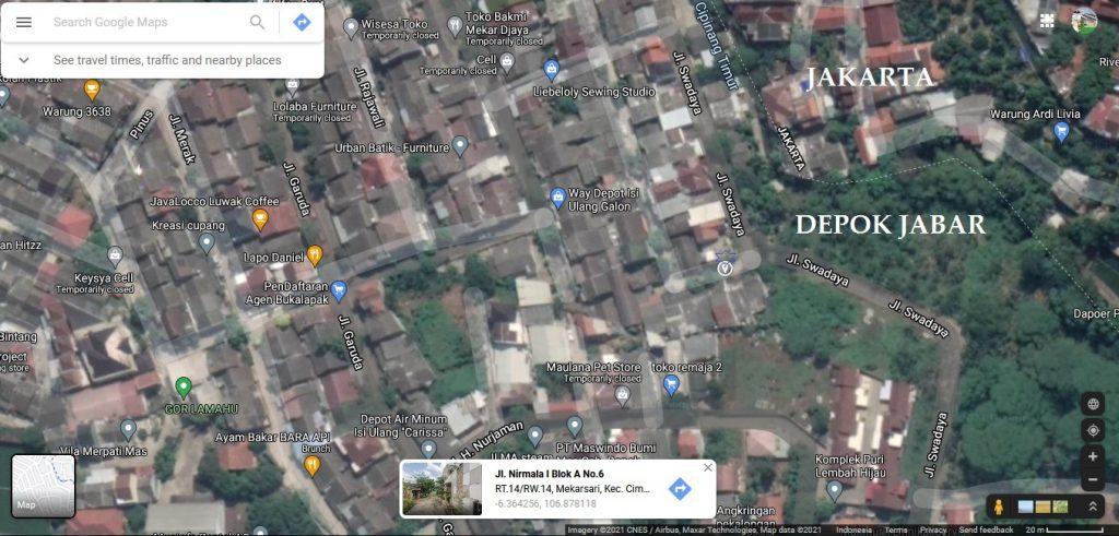 Perumahan Cimanggis Depok Perbatasan Jakarta