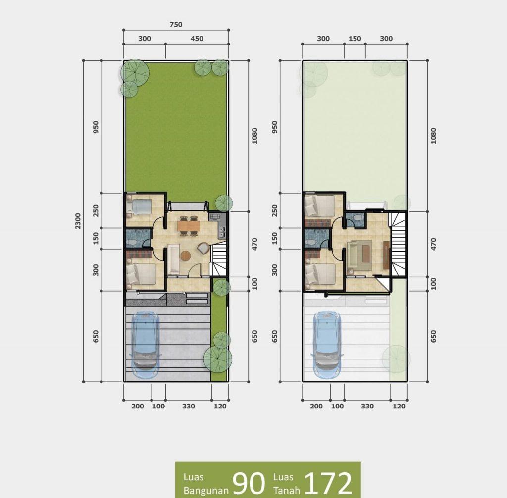 Rumah 2 lantai Bogor Taman Sari