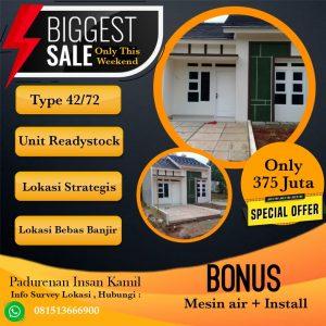 Flash Sale Rumah Baru Bekasi Pedurenan